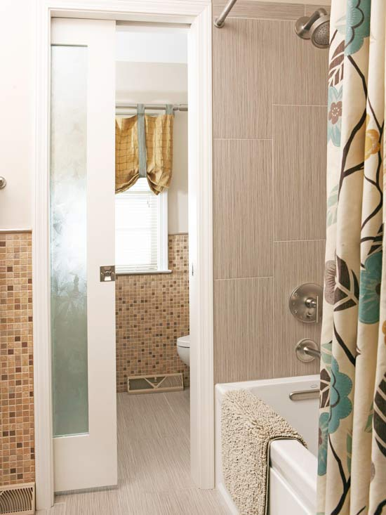 storage packed bathroom remodel - Bathroom Remodel Designs