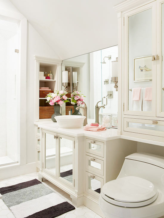 Maintain Color Continuity  Bathroom Color Ideas