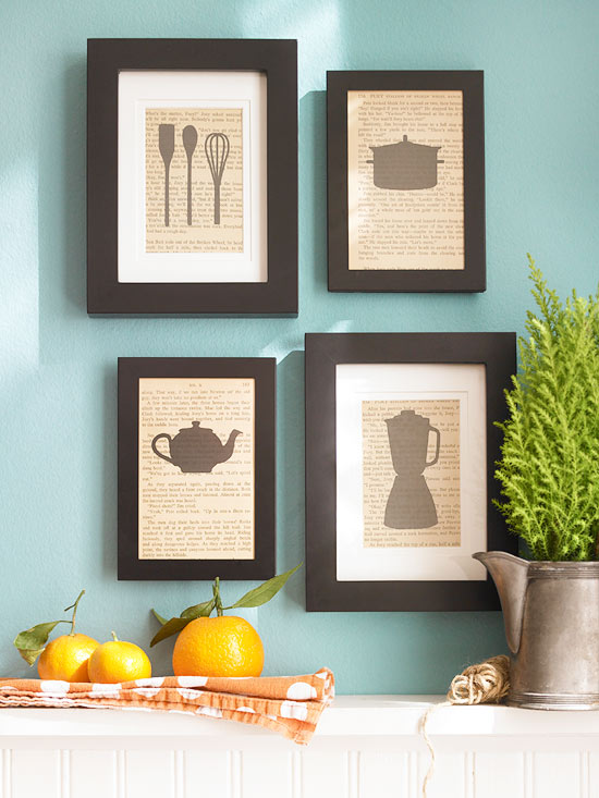 Kitchen Wall Art Decor 39 blank walls solutions for your home