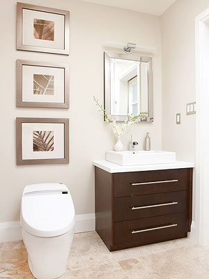 artwork has a place in the bathroom from a singular large stretched canvas to a series of small framed prints artwork can evoke a decorating style
