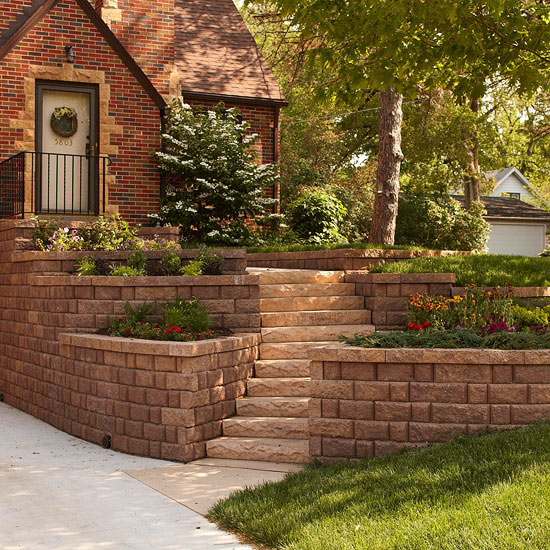 Landscaping Ideas For The Front Yard: All About Retaining Walls