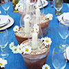 Daisies and Candles Centerpiece