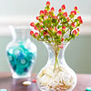 Vases of Red, White, or Blue Buttons
