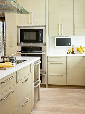 tips for incorporating a kitchen tv - better homes and gardens