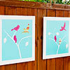 DIY Outdoor Bird Artwork