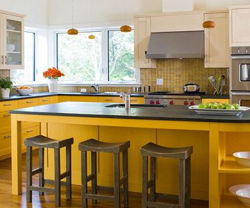 Warm, Contemporary Kitchens