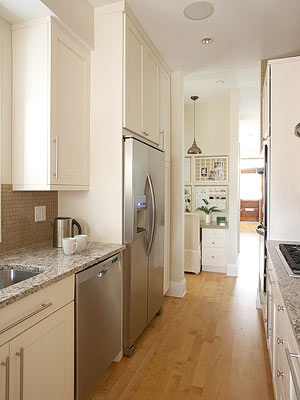 Galley Kitchens Are Valued By Home Cooks And Professional Chefs Alike For  Their Easy To Maneuver Footprints. A Mainstay In Old Homes, Galley Kitchen  Designs ...