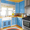 Kitchen 3: Blue Vintage Update