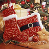 Santa Claus Belted Throw Pillow