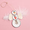 Metal-Rim Tag Snowman Ornament