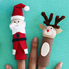 Santa and Rudolph Finger Puppets