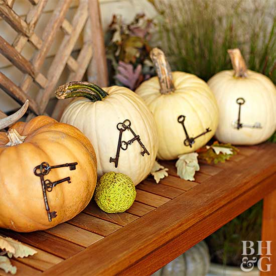 Antique-Key Fall Pumpkins