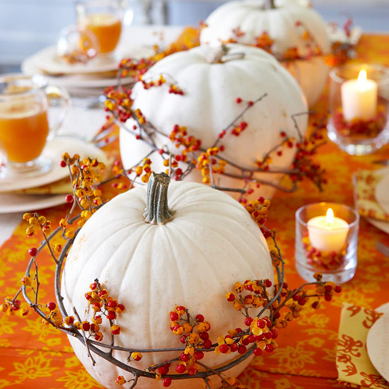 Bittersweet Pumpkin Centerpiece