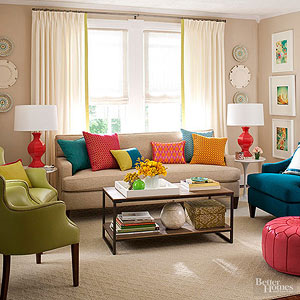 Budget Living Room Ideas - How to decorate a living room on a budget