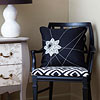 Black & White Spiderweb Pillow