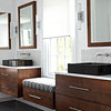 Bathroom Vanity with Window Seat