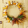 Gourds-and-Corn Fall Wreath