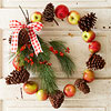 Apples-and-Pinecones Wreath