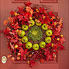 Fall Leaf, Apple, and Kale Wreath
