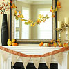 Easy Fall Mantel with Crafty Garland