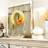 Yellow, Orange, and Gray Fall Mantel