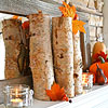 Fall-Inspired Mantel with Earthy Accents