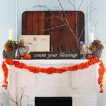 Real-Home Fall Mantel Ideas