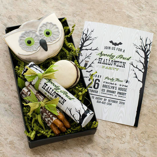 Spooky Forest Friends Invitation