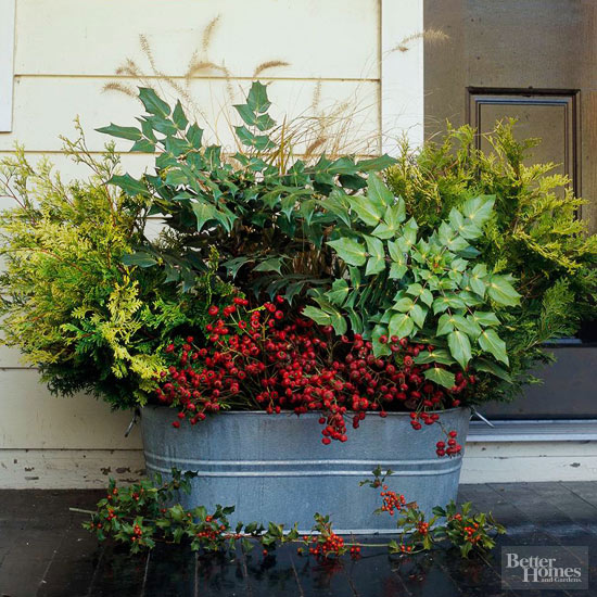 Front Porch Holiday Planter