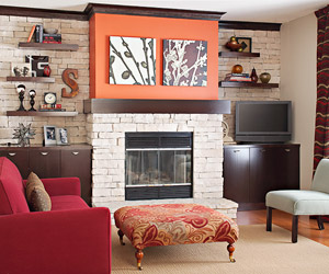 DIY Fireplace Better Homes and Gardens BHGcom
