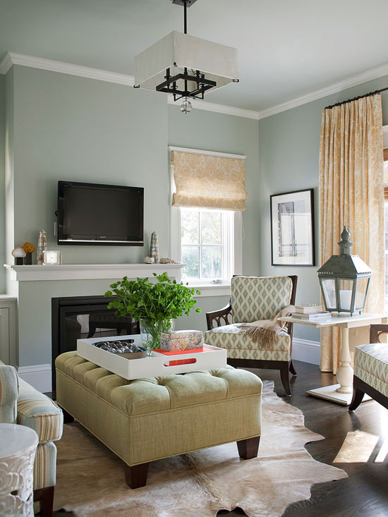 Living Room Color Scheme: Metallic Neutrals