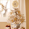 Silver-and-Gold Tabletop Christmas Tree