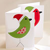 Homemade Christmas Bird Card