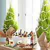 Christmas Buffet Table Trees