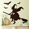 Witch and Bat Silhouettes Mantel