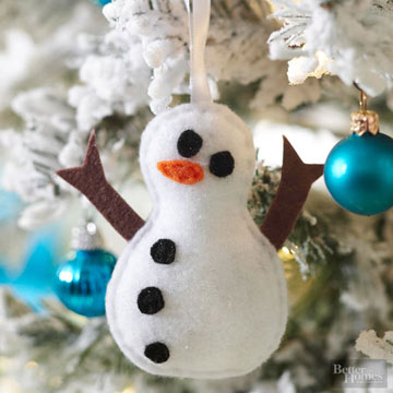 Christmas Ornaments Made from Felt