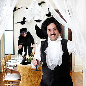 Creative Raven-Theme Halloween Party for Adults