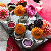 Muffin Tin and Flowers Centerpiece