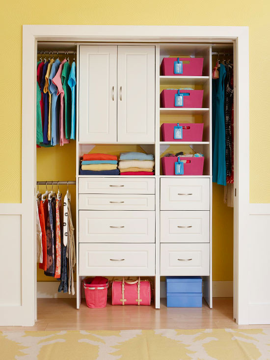 top organizing tips for closets - Closet Design For Small Closets