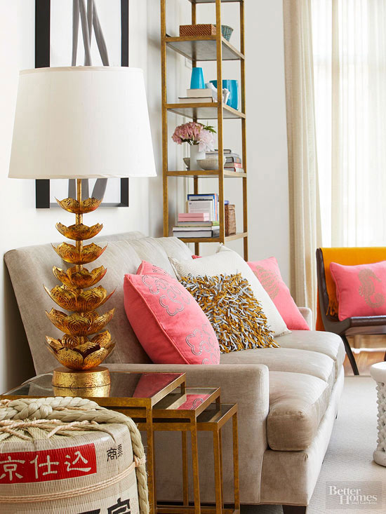 Decorating with Metallics