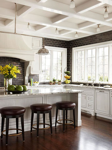White Kitchen with Old-World Charm