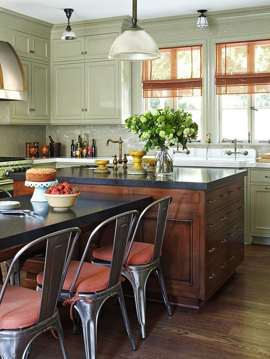 mix and match light fixtures - Lighting Ideas For Kitchen