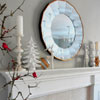 White and Silver Christmas Mantel