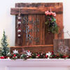 Country-Theme Christmas Mantel