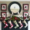 Christmas Mantel with Hanging Snowflakes