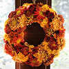 Chrysanthemum Floral Wreath