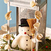 Rustic Snowman Decoration