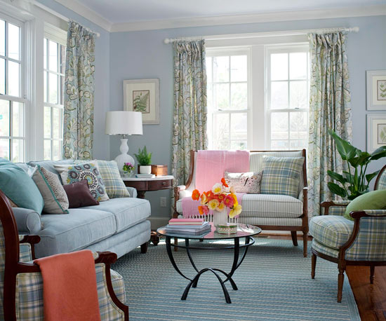 Living Room Color Scheme: Waterside Classic