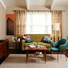 Living Room Color Scheme: Midcentury Mod Jewels