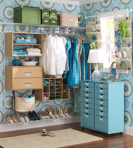 Smart Storage for a Walk-In Closet